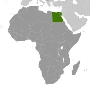 Egypt in Africa map