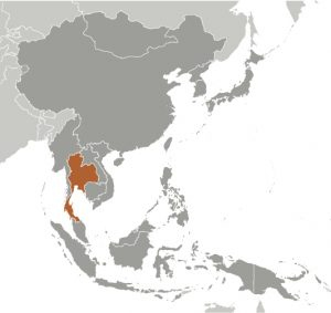 Thailand in Asia map