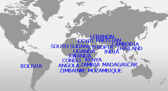 project locations on map