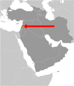 Lebanon location map