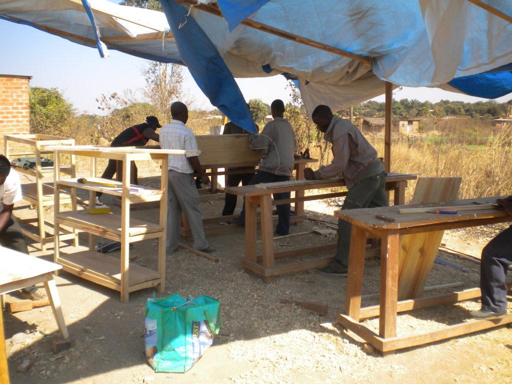 peeople making furniture