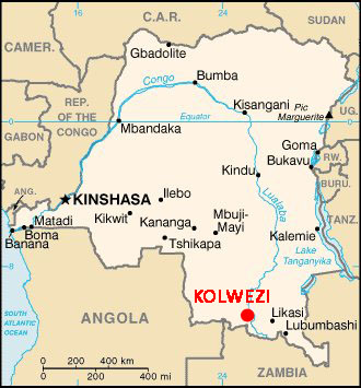 map of D R Congo