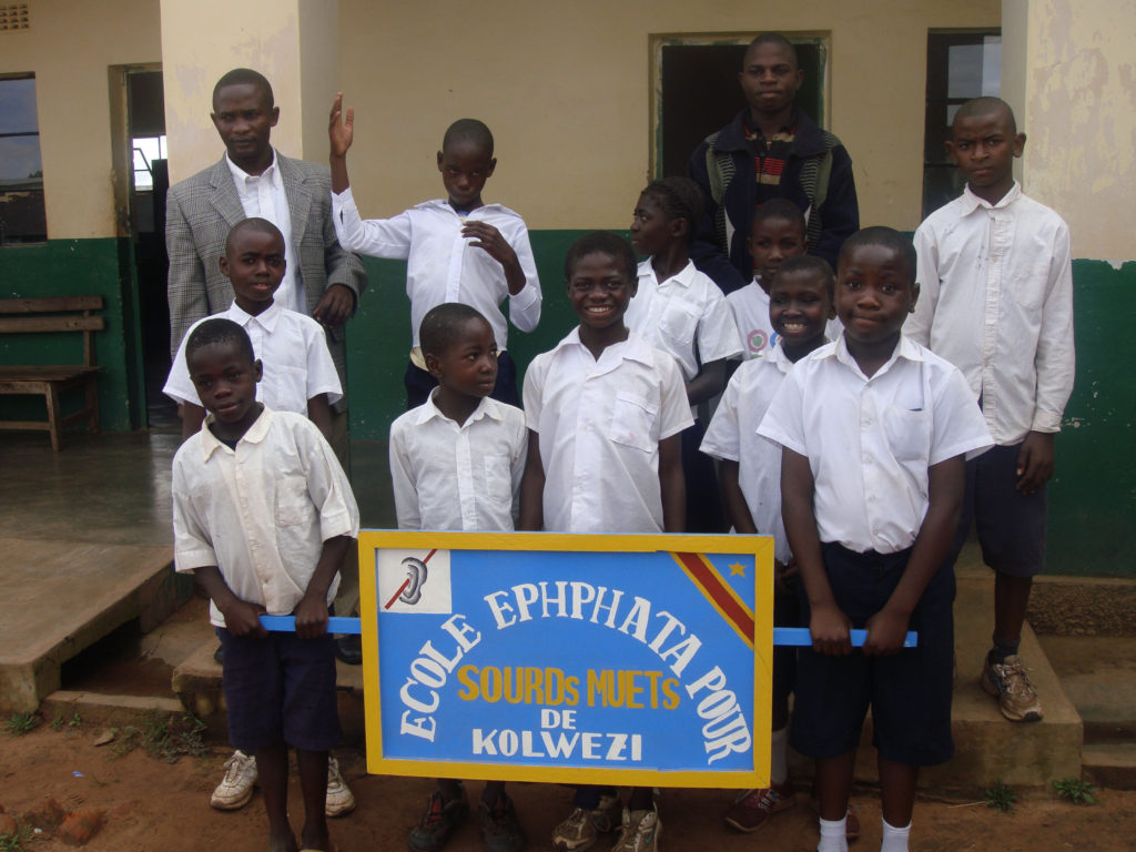 Children at school in Kolwezi