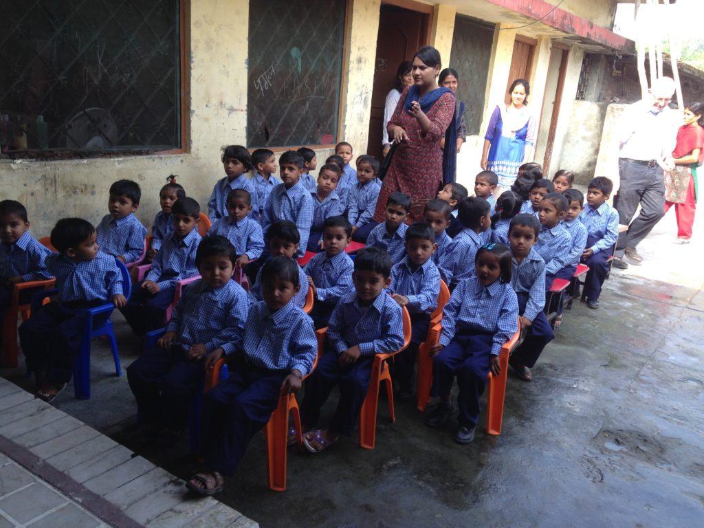 school children and teachers in India