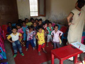 children at school, North India