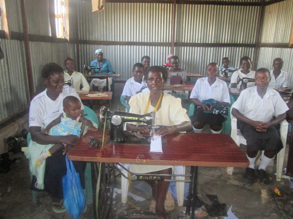 people at sewing centre in Kenya