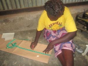 woman at sewing centre in Kenya