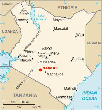 map of Kenya
