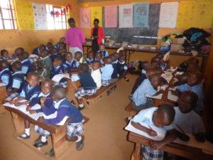 children at school in Kenya
