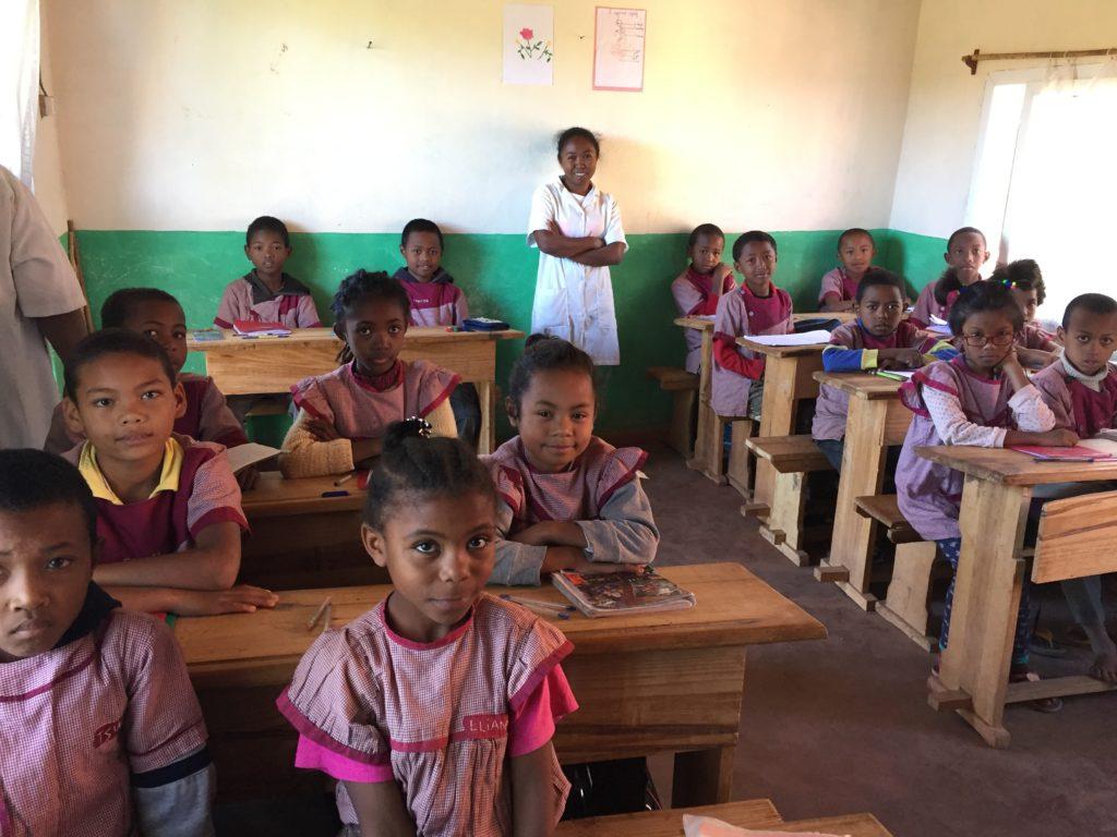 children at school in Madagascar