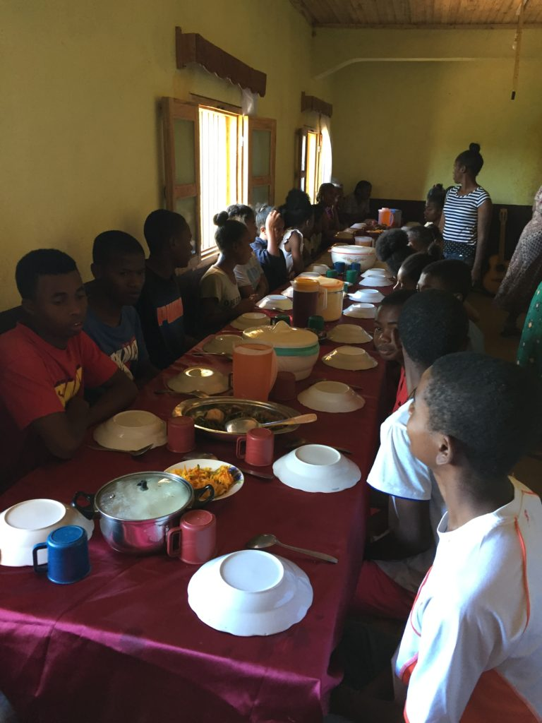 people having a meal