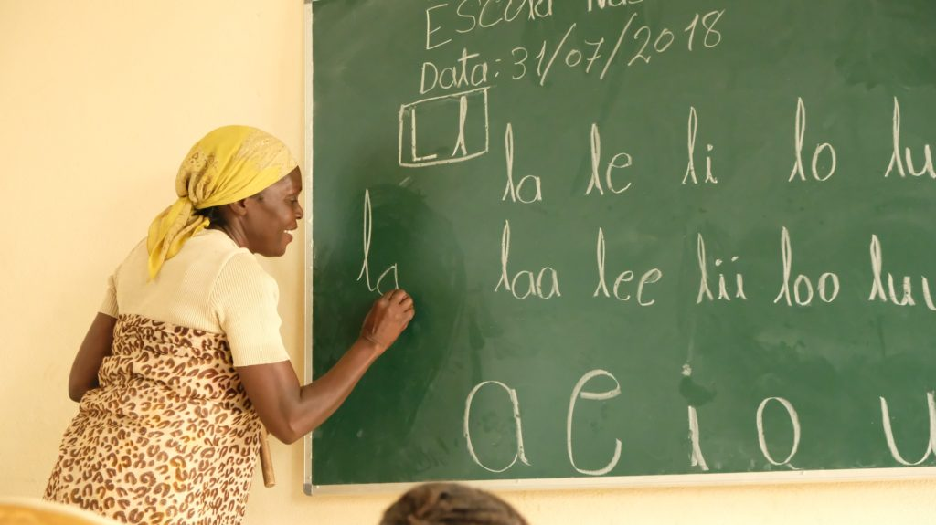 literacy class in Mozambique