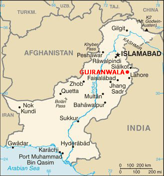 map of Pakistand