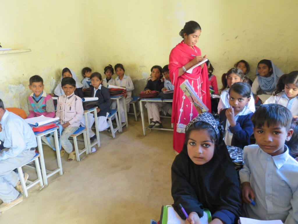 school class in Pakistan