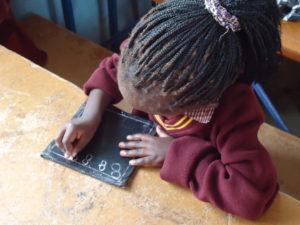 pupil at school in Zambia