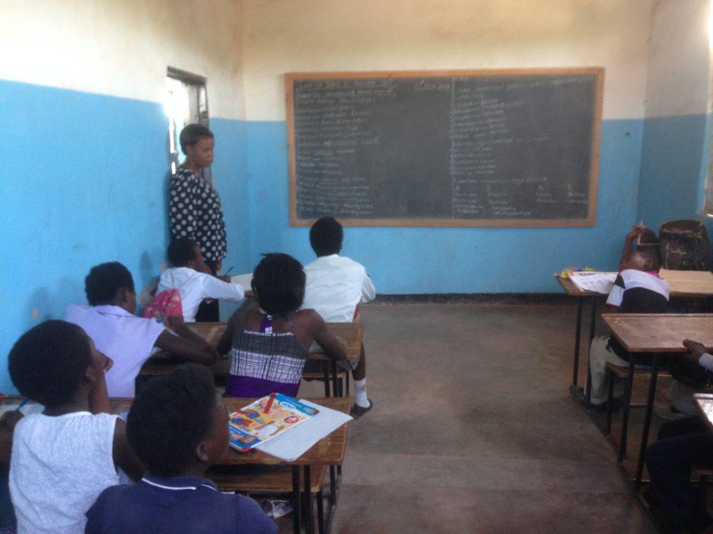 children at school in Zambia